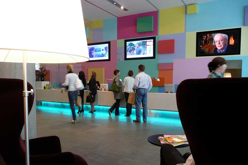 BBC World Reception Screens