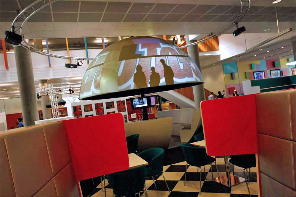 BBC Worldwide Entertainment Projection AV Unit in reception