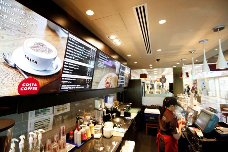 Costa Coffee Electronic signage