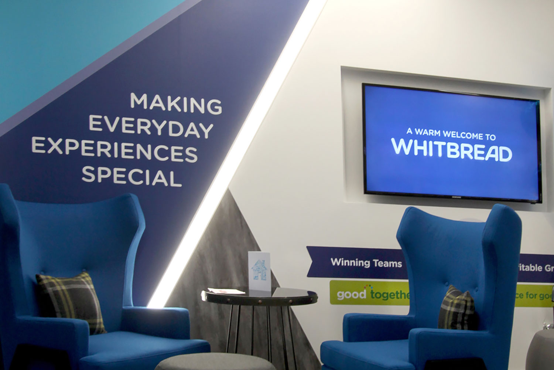 Whitbread Dunstable Reception Digital Signage