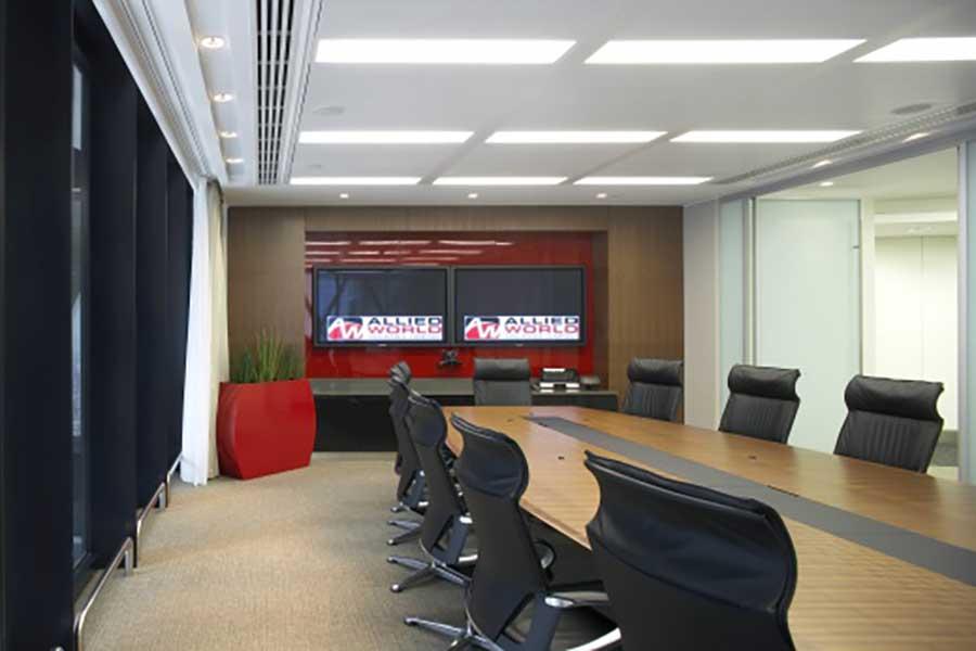 Allied World boardroom AV Solution