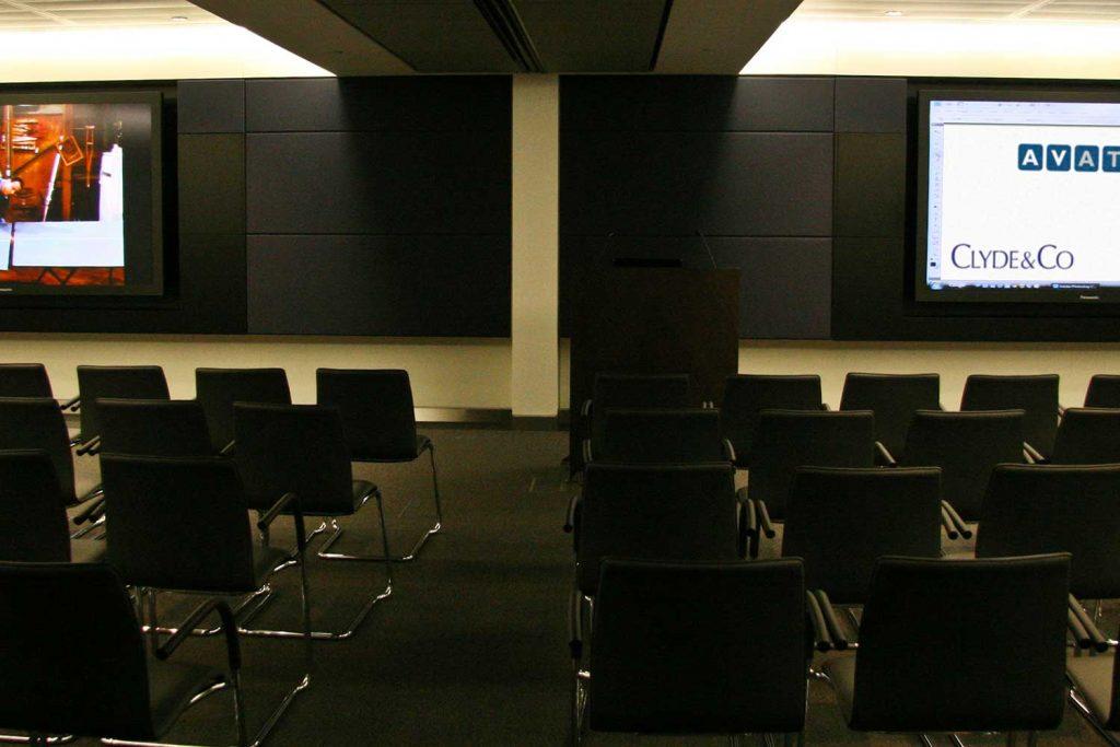 clyde split AV Room