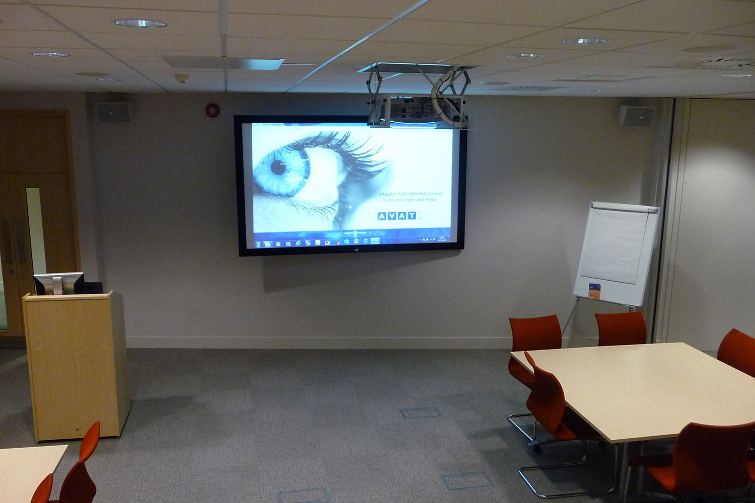 tui training room projector